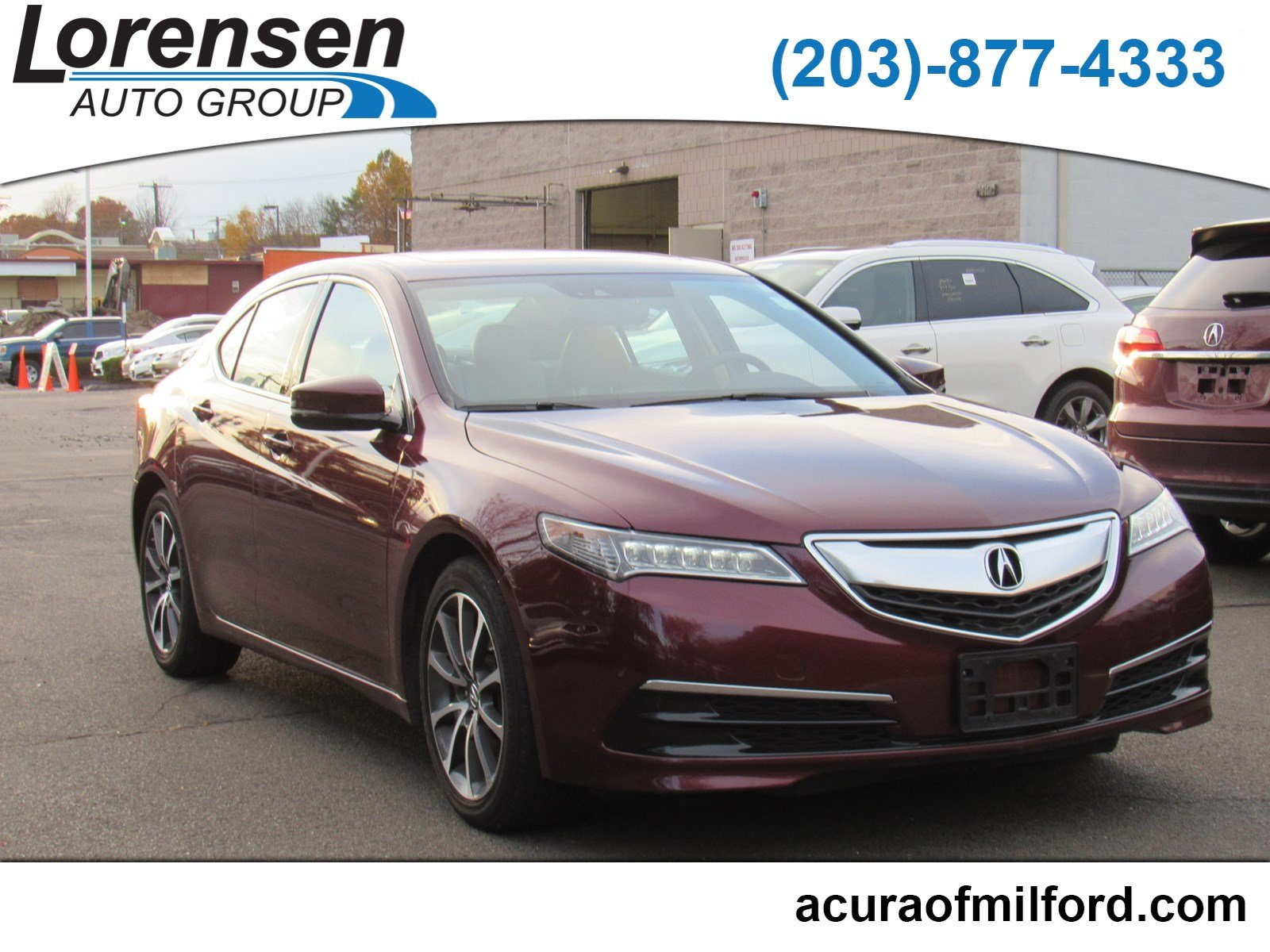 Certified Pre Owned 2016 Acura TLX V6 Tech 4dr Car in Watertown