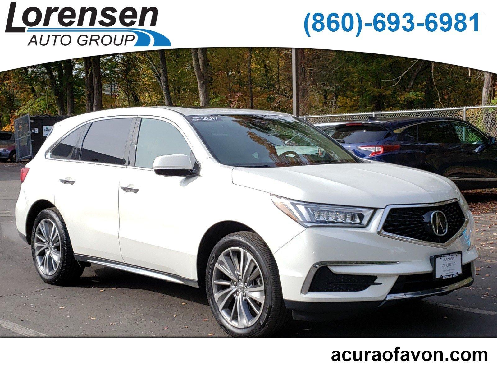 Certified Pre-Owned 2017 Acura MDX w/Technology/Entertainment Pkg